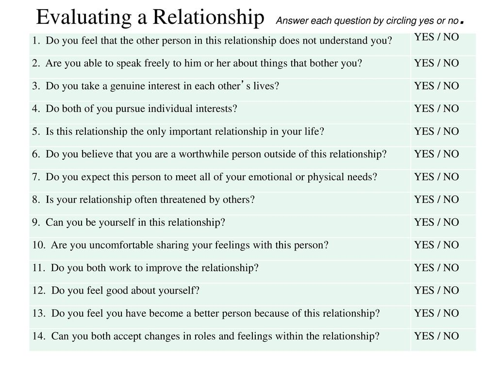 10 questions that you should be able to answer after a year of relationships