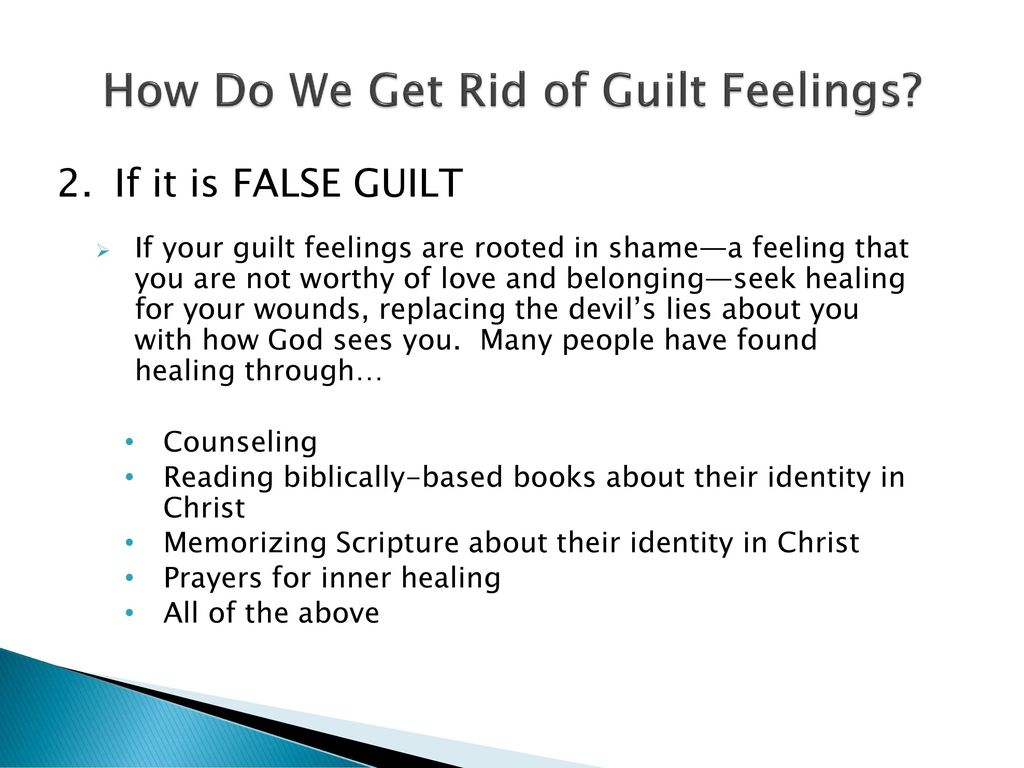 How to get rid of guilt