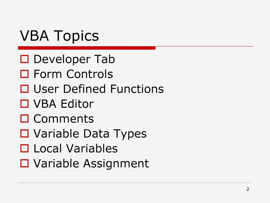 Excel Vba Form Controls