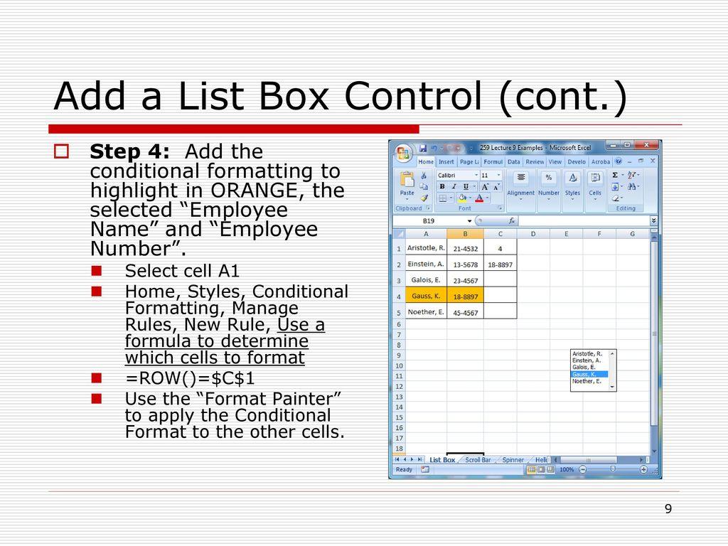 Advanced Excel Topics – Visual Basic for Applications (VBA