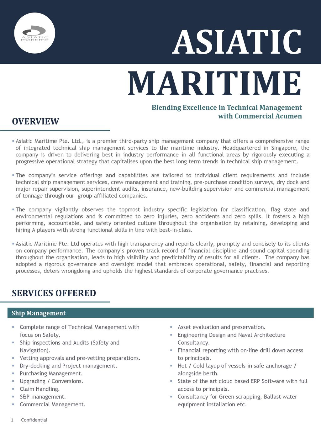 ASIATIC MARITIME OVERVIEW SERVICES OFFERED - ppt download