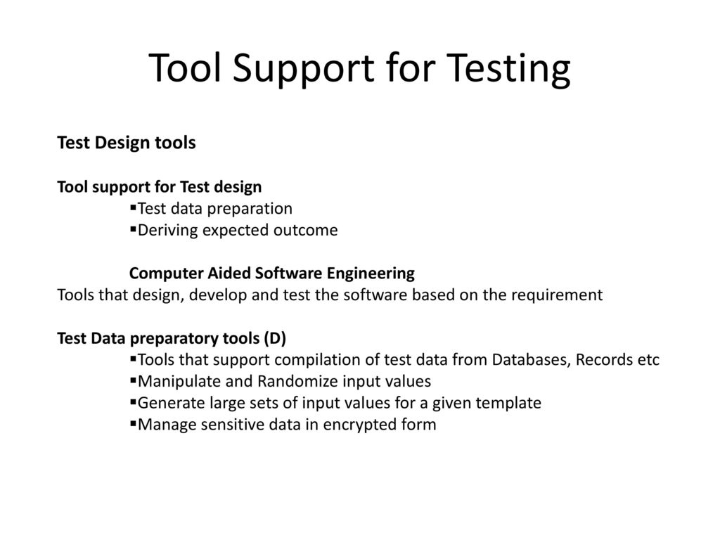 Tool Support for Testing - ppt download