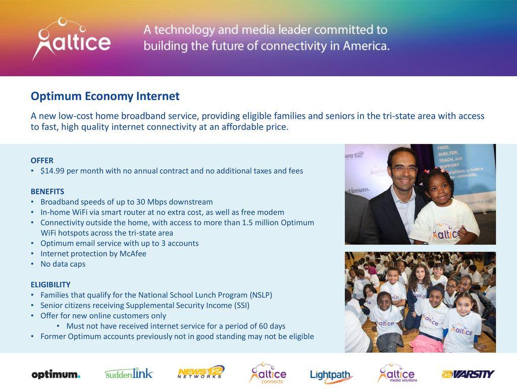 Optimum Economy Internet - ppt download