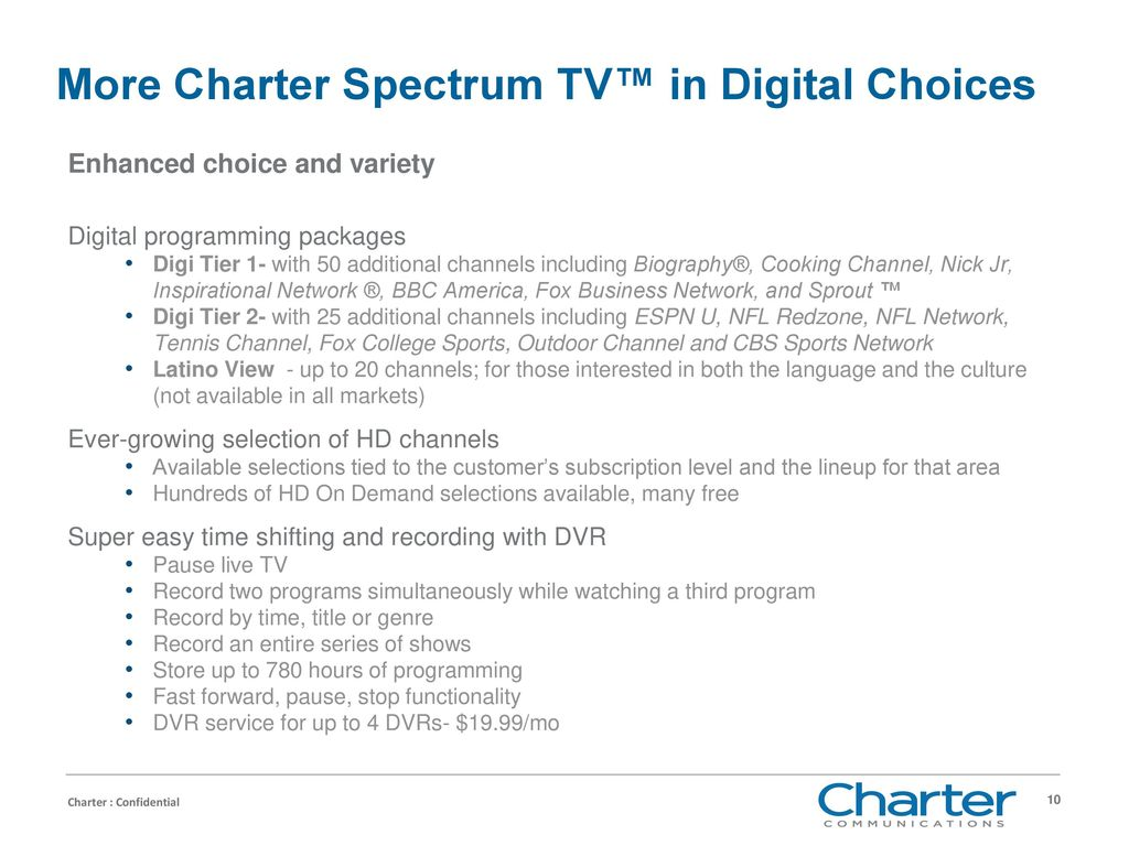 Charter Products and Services - ppt download
