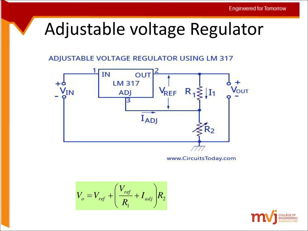 Alternate Positivevoltage Switching Regulator Circuit Diagram Subject Name Electronic Circuits Code 10cs32 Ppt Download 15 Adjustable Voltage