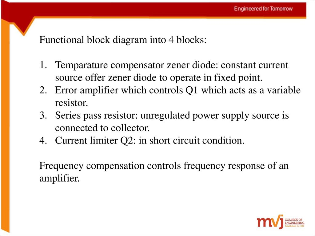Subject Name Electronic Circuits Code 10cs32 Ppt Download Constant Current Source Circuit Diagram Functional Block Into 4 Blocks