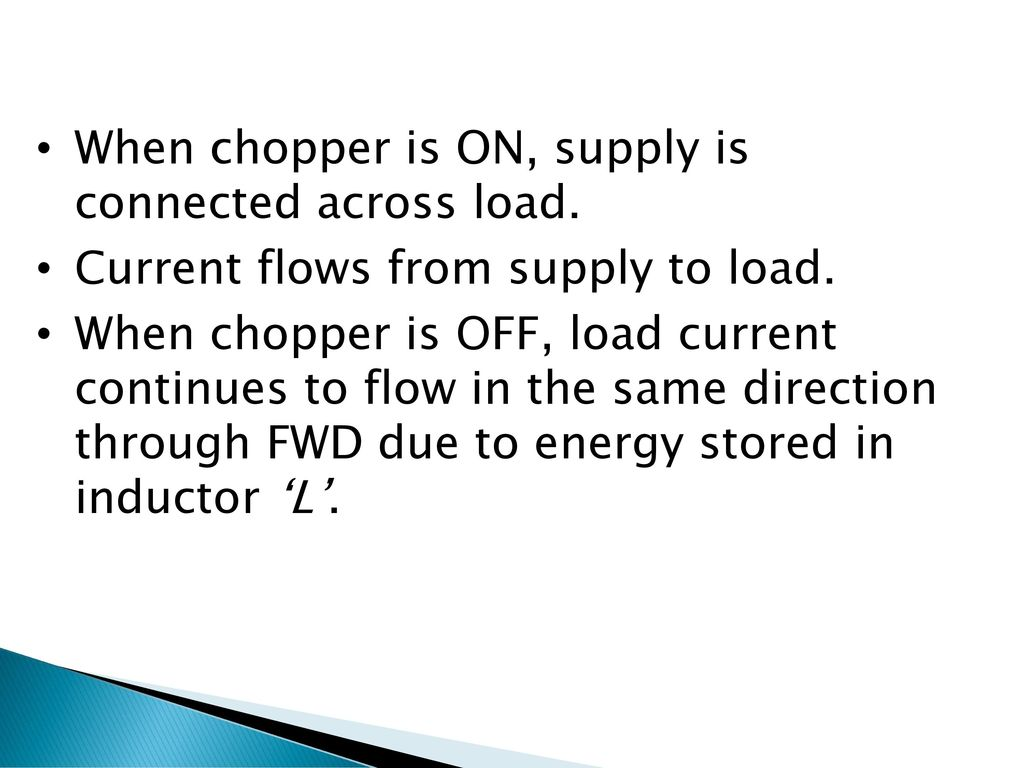 Subject Power Electronics 1 Topic Step Down Up Chopper Types Of Circuits When Is On Supply Connected Across Load