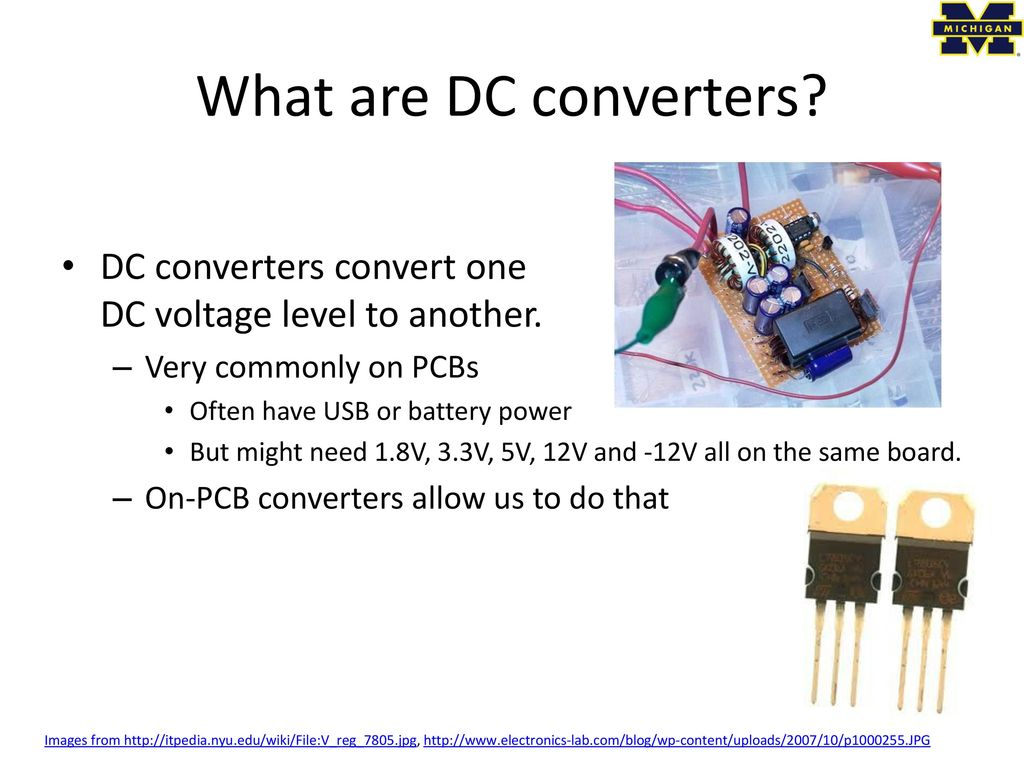 Eecs 473 Advanced Embedded Systems Ppt Download 5v To 12v Inverting Switching Regulator Electronicslab What Are Dc Converters Convert One Voltage Level Another Very Commonly