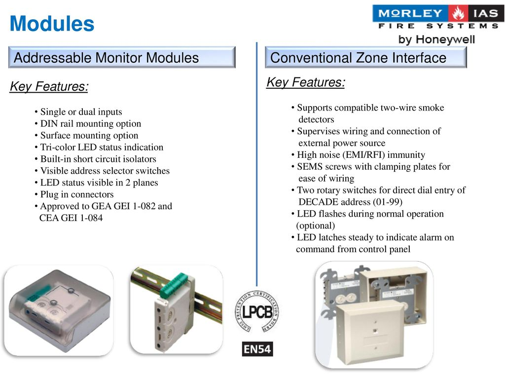 Modules Addressable Monitor Modules Conventional Zone Interface
