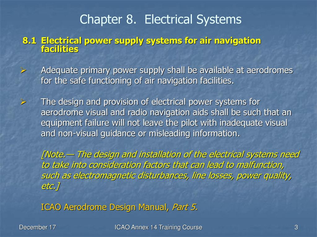 Chapter 8. Electrical Systems