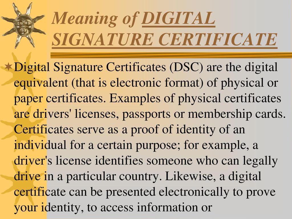 An Overview On Digital Signature Certificate Ppt Download