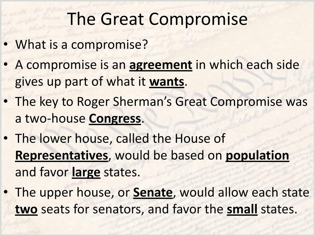 What is a compromise