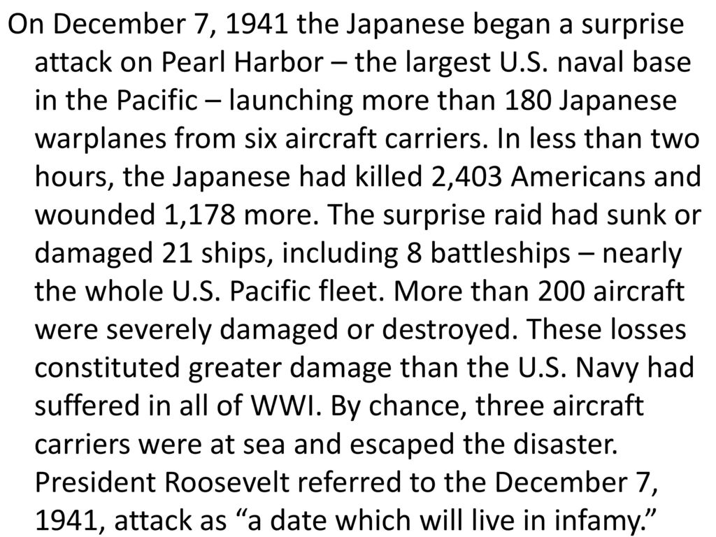 Turn In Your Dbq Essays These Are For Today  Ppt Download On December   The Japanese Began A Surprise Attack On Pearl Harbor   The