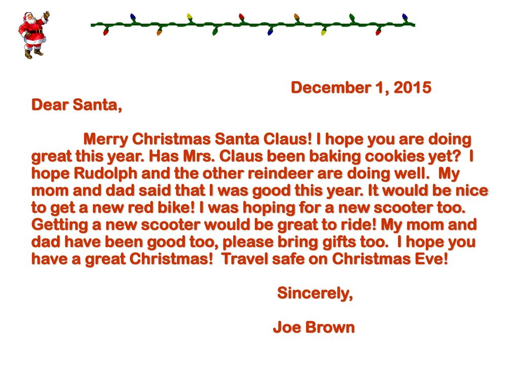 How To Write A Letter To Santa  Ppt Video Online Download