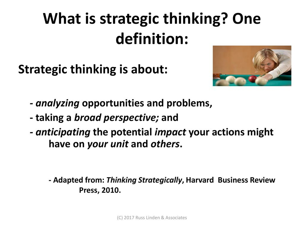 strategic thinking and acting - ppt download