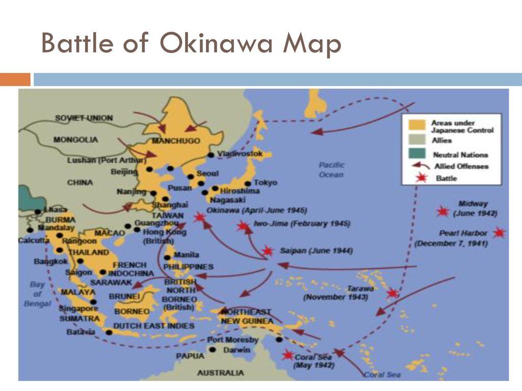 25 Battle Of Okinawa Map