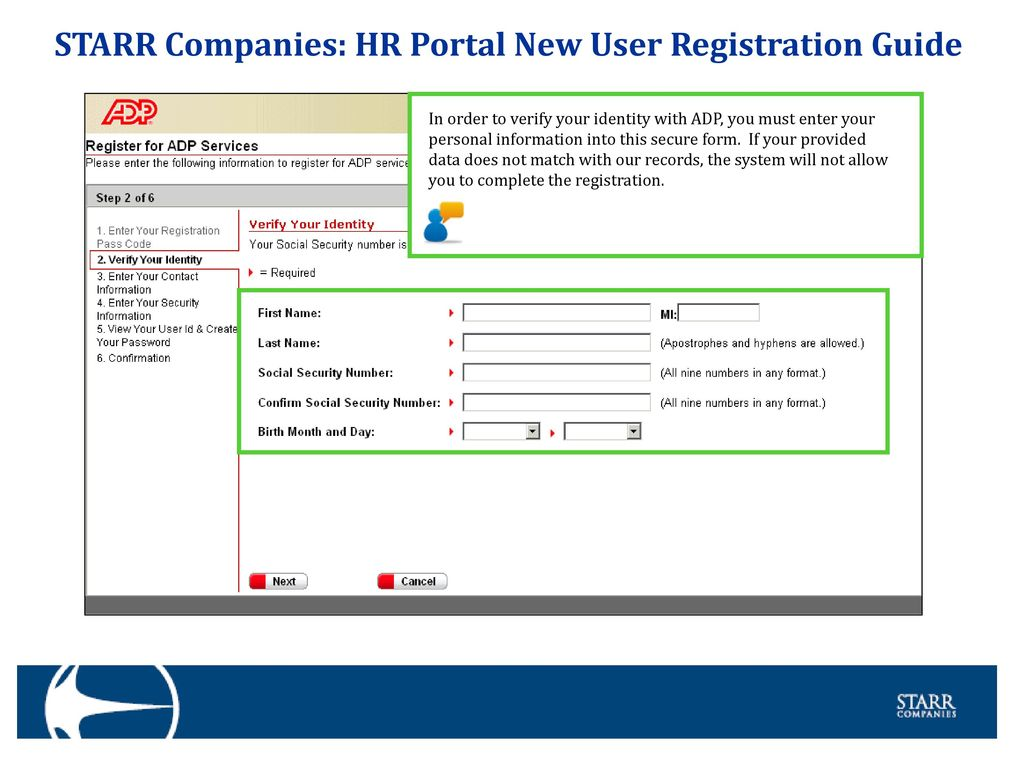 starr companies hr portal new user registration guide ppt download rh slideplayer com Registration Rules Enrollment Registration