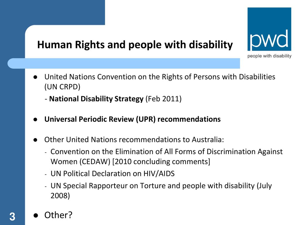 Human Rights And People With Disability