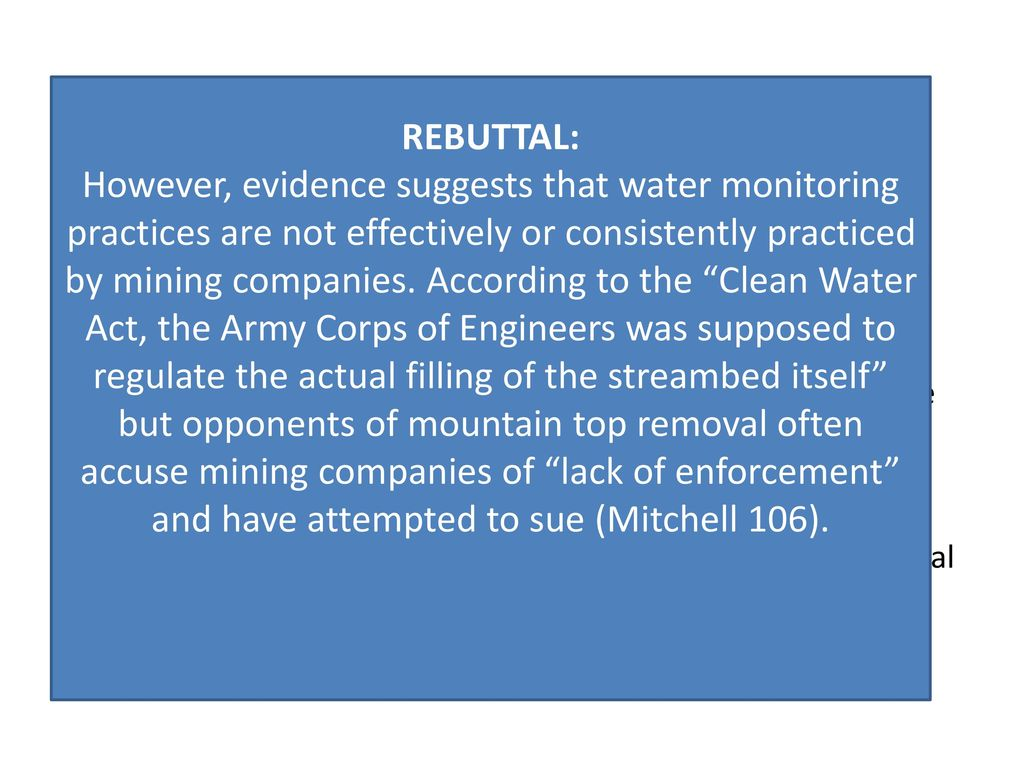 rebuttals definition: - ppt download