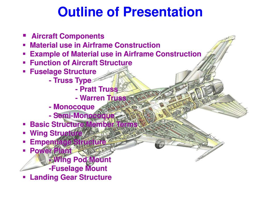 Basic Aircraft Structure Ppt Video Online Download Warren Truss Bridge Diagram Component Inside 2 Outline Of Presentation