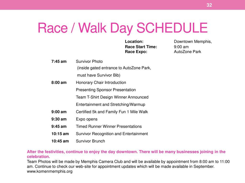 Team Captain Packet Race/Walk Date AutoZone Park - Memphis - ppt