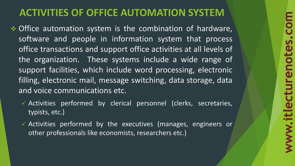 disadvantages of office automation system