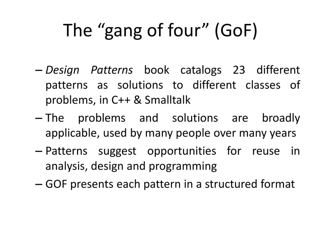 Gang Of Four Patterns Magnificent Design