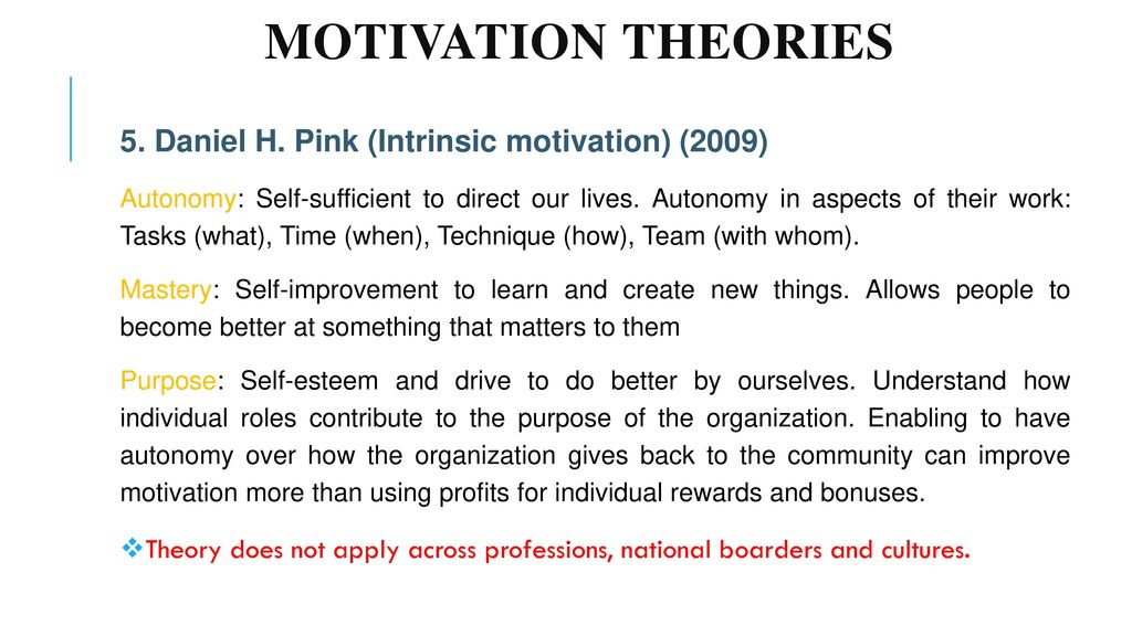 motivational theories in business