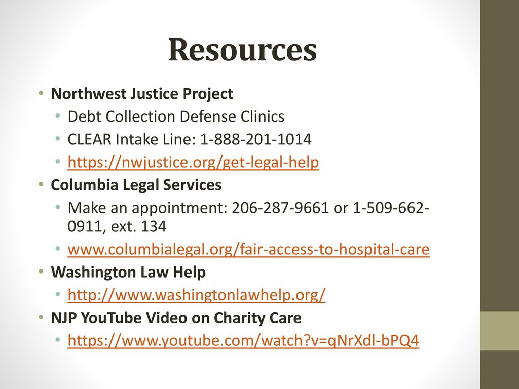 charity care: using wa charity care law to protect consumers - ppt