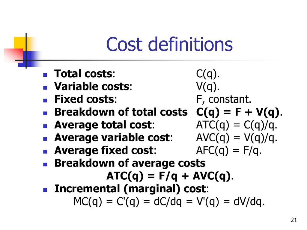 Business Of Social And Other Networks Presentation Ppt Download Introduction To Electronics Dc Ac Circuits Stephen C Harsany Cost Definitions Total Costs Cq Variable Vq