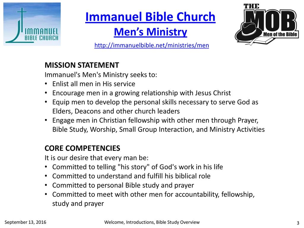 Welcome, Introductions, Bible Study Overview - ppt download