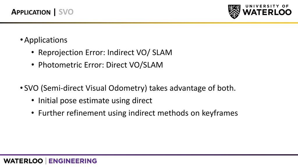 Modelling Camera Residual Terms Using Reprojection Error and