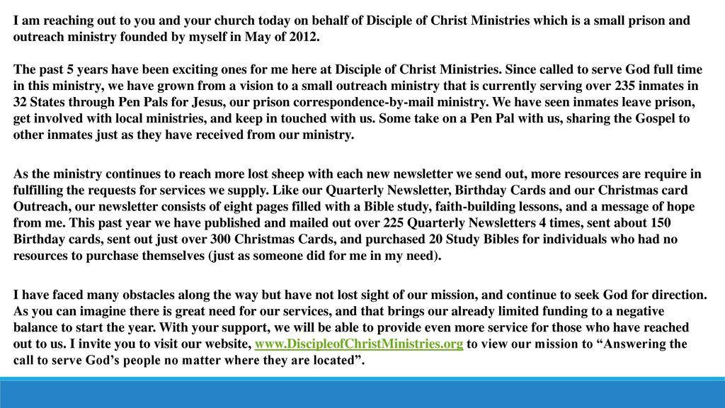 Disciple Of Christ Ministries Ppt Video Online Download
