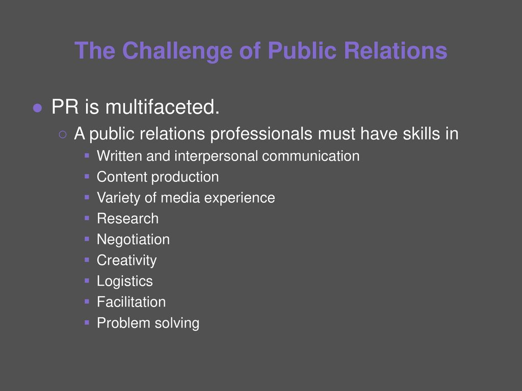 a research on public relation essay Preface: in this essay the field of public relations will be examined by relating it to the ''two-way flow of information'', which has been described and explained find what electronic forms of communication will be needed in the public relations field, heavy research was needed i consulted not only books.