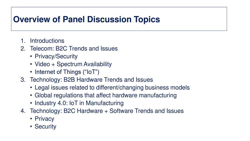 global discussion topics