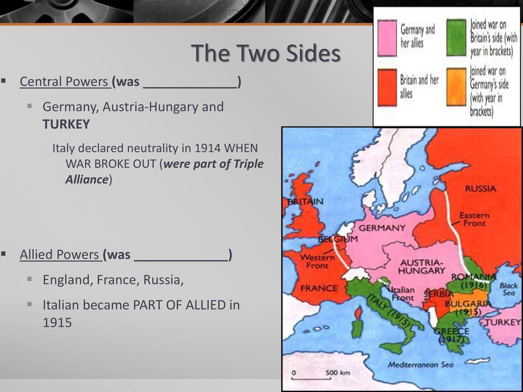 WWI: The Great War the \'Triple Alliance\' of Germany, Austria-Hungary ...
