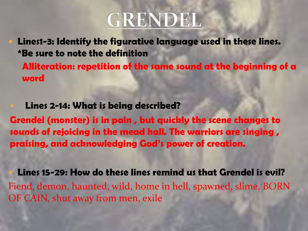 what is the significance of grendel being descended from cain