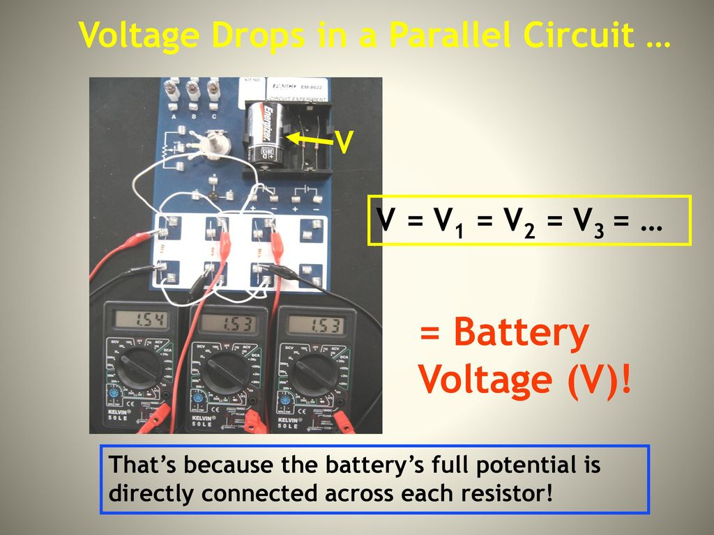 A Flow Of Electric Charge Ppt Download Voltage Drop In Parallel Circuit Drops