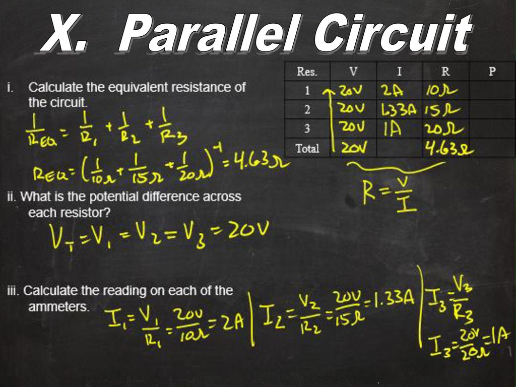 Electricity And Circuits Ppt Download How Does Someone Calculate The Total Resistance Of Such A Circuit X Parallel Equivalent Ii What Is