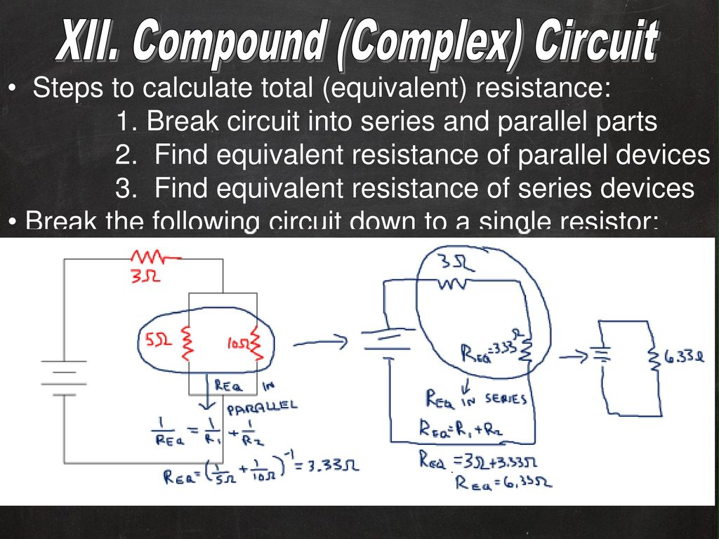 Electricity And Circuits Ppt Download Find Equivalent Resistance In This Circuit Compound Complex