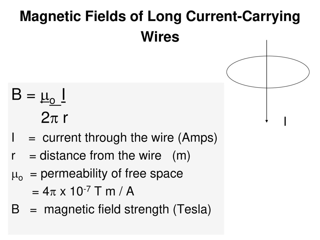 Magnetic Field Due To A Current Of Wire Center 2006 Yamaha Yz250fw Electric Wiring Diagram And Color Code Carrying Biot Savart Law Ppt Rh Slideplayer Com