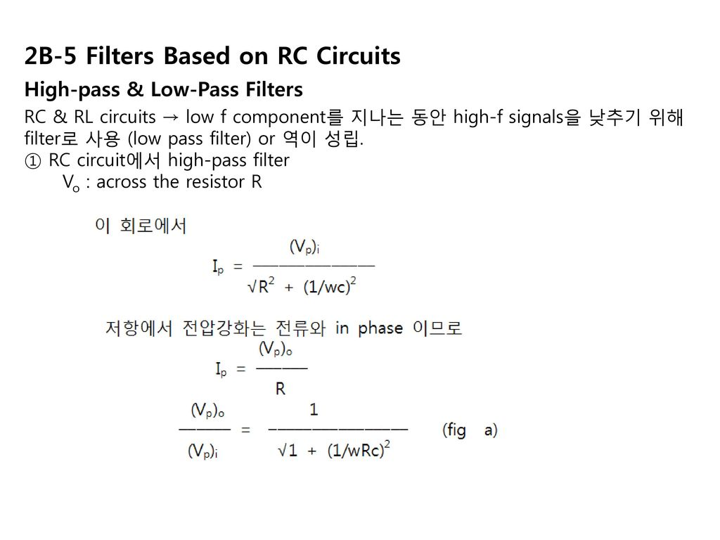 Chapter 2 Electrical Components And Circuits Ppt Download Figure 3 Simple Lowpass Rc Circuit With Source Voltage 2b 5 Filters Based On