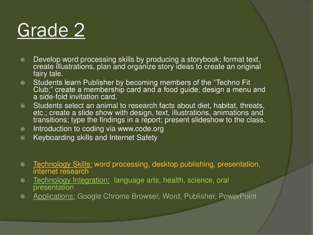 christ lutheran school technology curriculum overview grades ppt