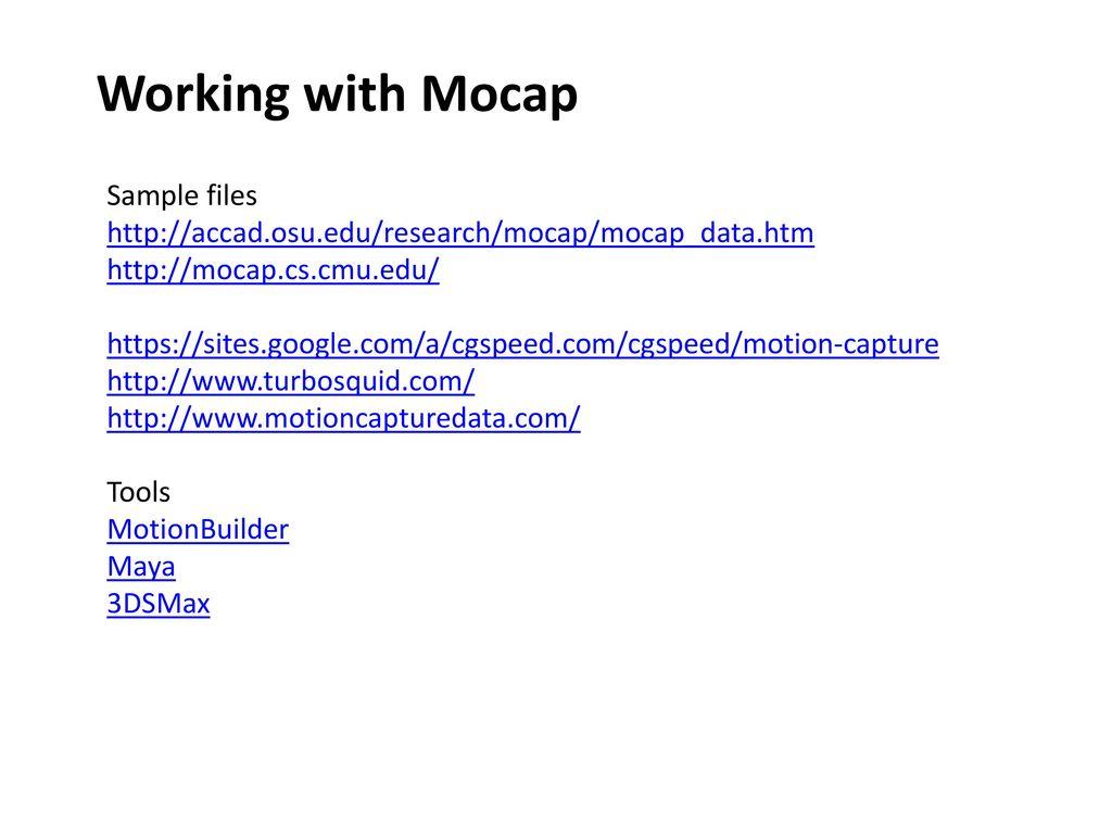 Motion Capture CSE 3541 Matt Boggus  - ppt download