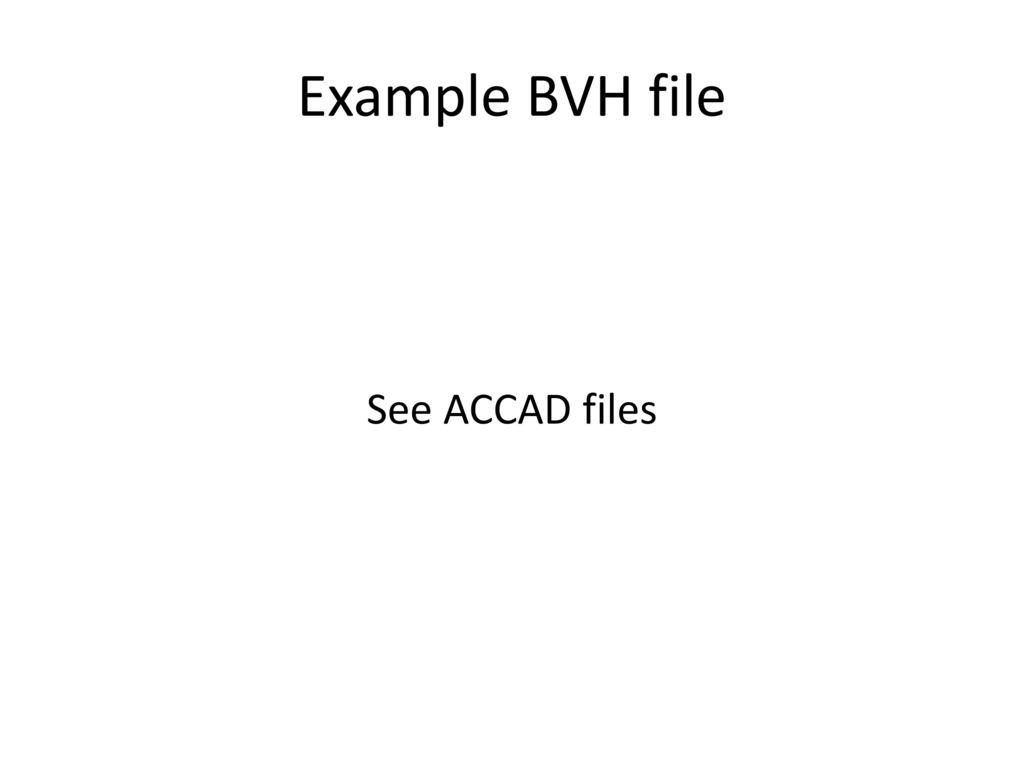 Bvh Files