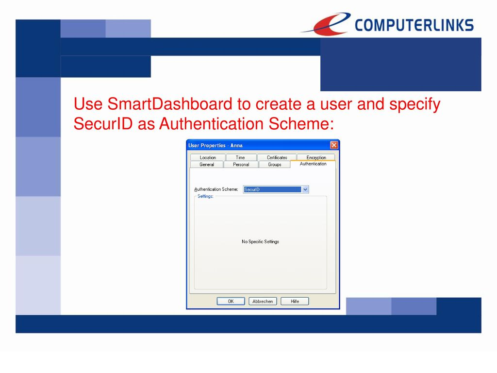 Integrating RSA SecurID into the Check Point Secure Virtual