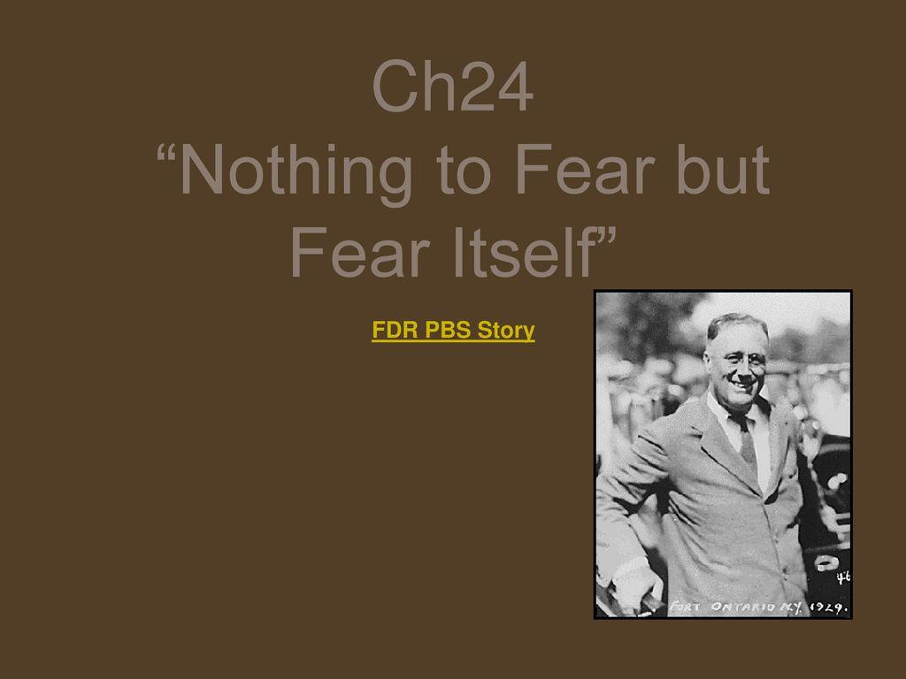 fdr fear itself speech