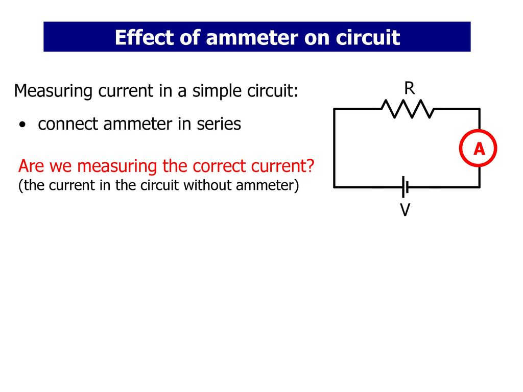 how to connect ammeter in series