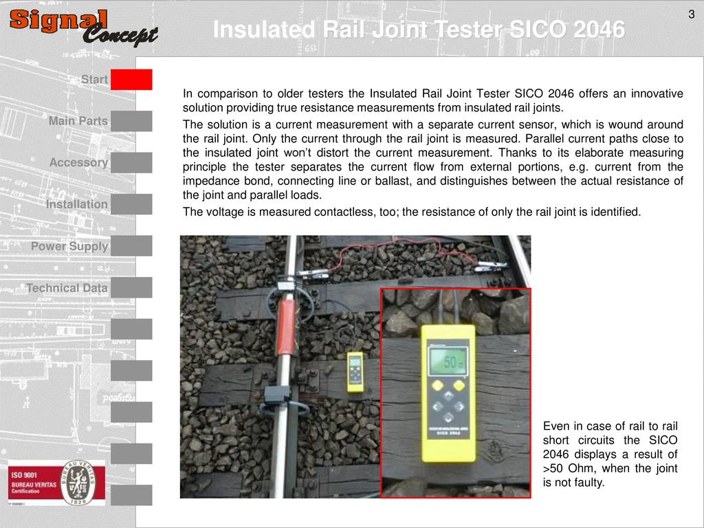 Measuring Device To Test Completely Installed Insulated Rail Joints About Series Parallel Or Even Circuits In Order Solve The Comparison Older Testers Joint Tester Sico 2046 Offers An Innovative Solution
