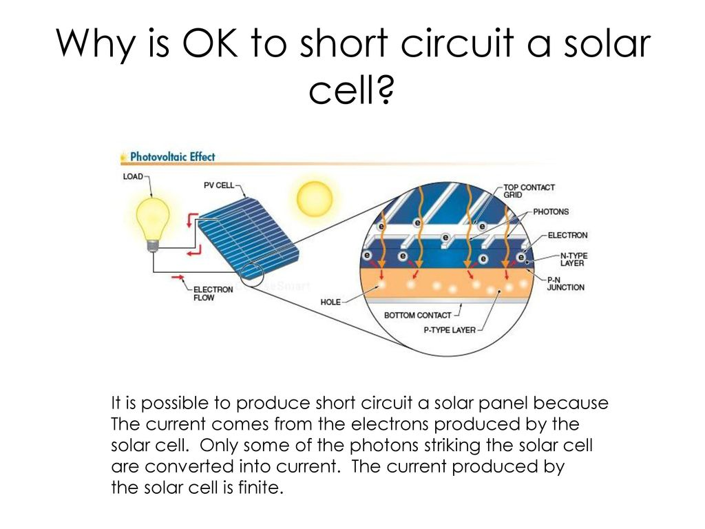 Series Parallel Circuits Ppt Download Solar Power Panels Or Cells In Why Is Ok To Short Circuit A Cell